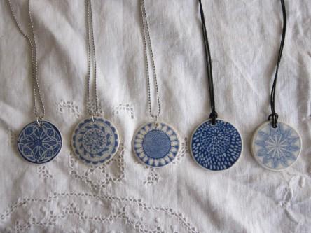 porcelain pendants Nancy Brown