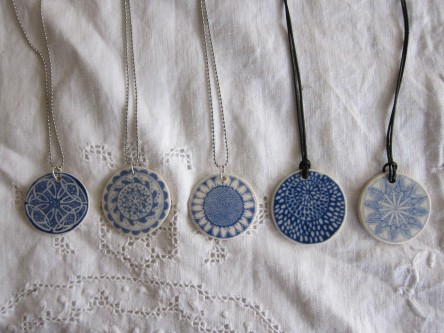 porcelain pendants Nancy Brown