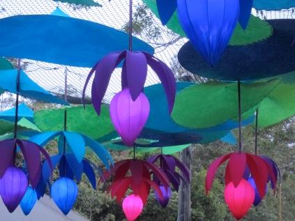 Kez Howell lanterns Woodford Festival