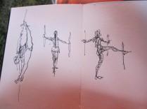 AlisonGatt sketches Woodford Festival