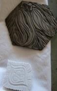 lino and rubber textile blocks