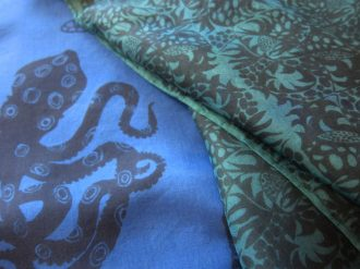 blue ringed octopus and tropical scarves