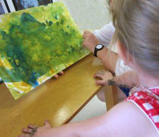 discussing artwork Oakleigh