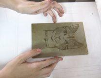 Glennie cat etching 16