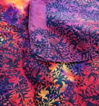 tropical print over shibori square smaller file
