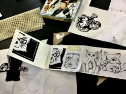Emerald Lino to Zines workshop Flying Arts