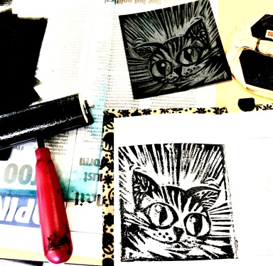 Manga cat Flying Arts zine workshop