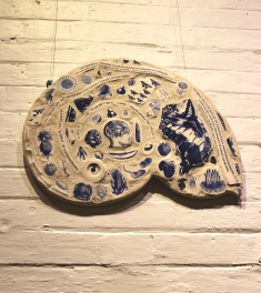 Cobalt blue porcelain mosaic Nancy Brown