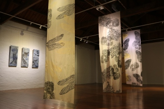 Nancy Brown Printed textiles Gatakera Artspace Maryborough