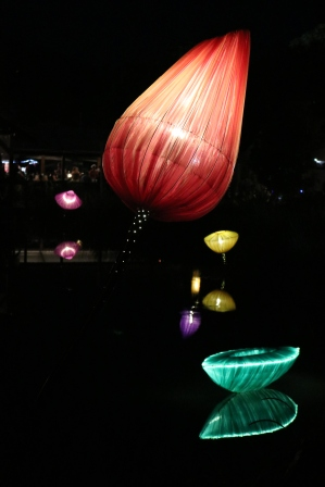 Woodford Folk Festival lanterns designed and created by Kerry Howell and Cliff Salan