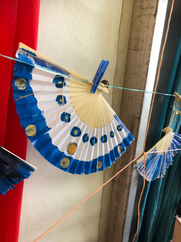 Hand decorated fan Woodford Children's Festival 2018 19