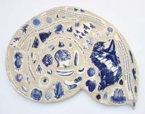 Nancy Brown hand printed mosaic