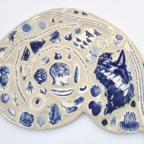 Nancy Brown hand printed mosaic