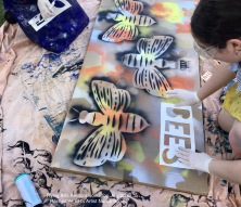Stencilling images for aerosol painting